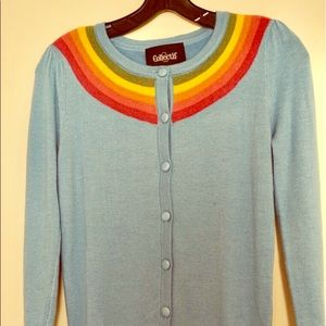 Collectif Mainline Hallie Rainbow Cardigan